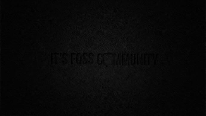 It's Foss Community 1440p